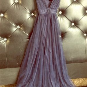 Beautiful Navy Tull Gown